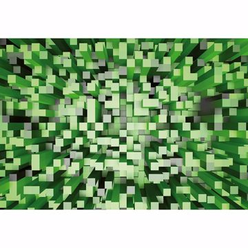 Picture of Green 3D Pixels Non Woven Wall Mural
