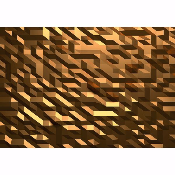 Picture of 3D Crystal Gold Non Woven Wall Mural