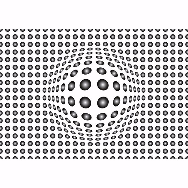 Picture of Black and White 3D Dots Non Woven Wall Mural