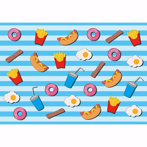 Picture of Fast Food Kitchen Blue Non Woven Wall Mural