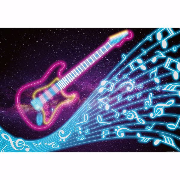 Picture of Neon Kids Guitar Non Woven Wall Mural