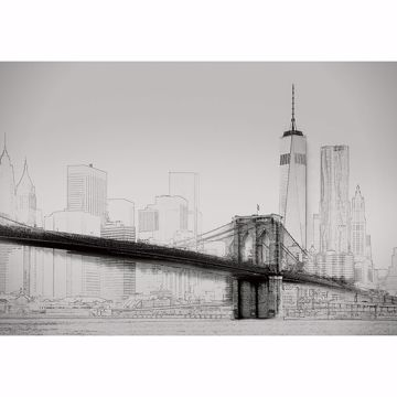 Picture of New York Art Illustration Non Woven Wall Mural