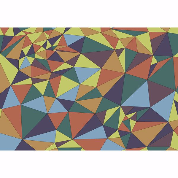 Picture of Multicolored Polygons Non Woven Wall Mural
