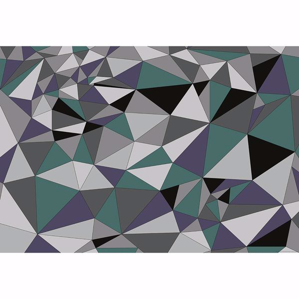Picture of Grey Polygons Non Woven Wall Mural