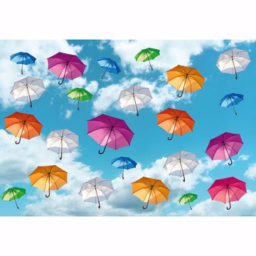 Picture of Multicolored Umbrellas in the Sky Non Woven Wall Mural