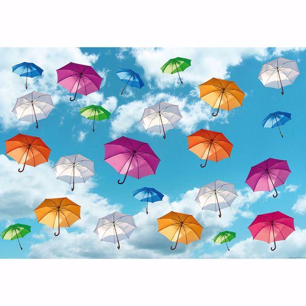 Picture of Multicolored Umbrellas in the Sky Non Woven Wall Mural