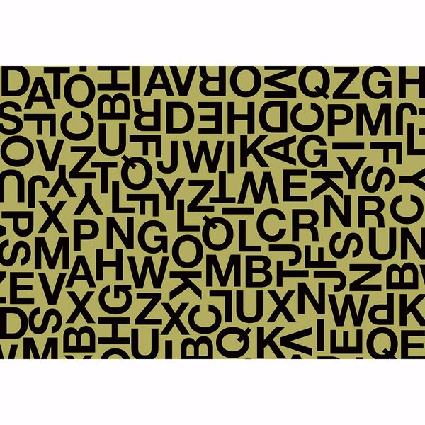 Picture of Alphabetic Characters Non Woven Wall Mural