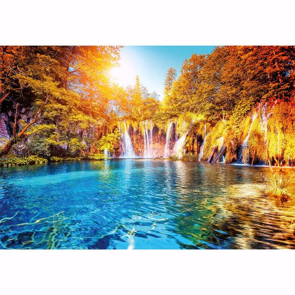 Picture of Waterfall And Lake In Croatia Non Woven Wall Mural