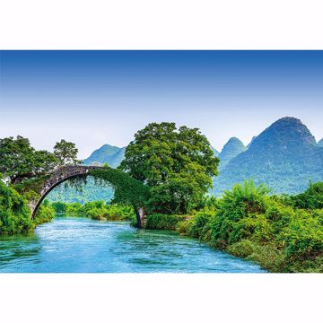 Picture of Bridge Crosses A River In China Non Woven Wall Mural