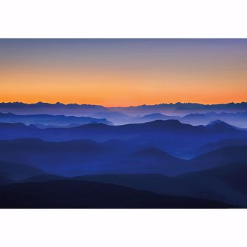 Picture of Orange Sunset Mountains Non Woven Wall Mural