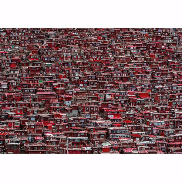 Picture of Red Houses China Non Woven Wall Mural