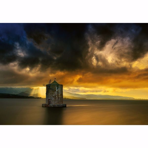 Picture of Old Windmill Non Woven Wall Mural