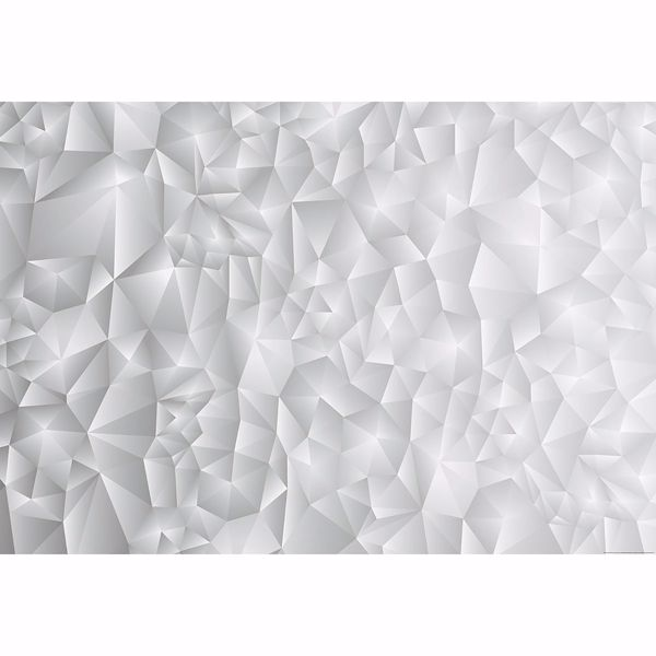 Picture of White 3D Triangles Non Woven Wall Mural