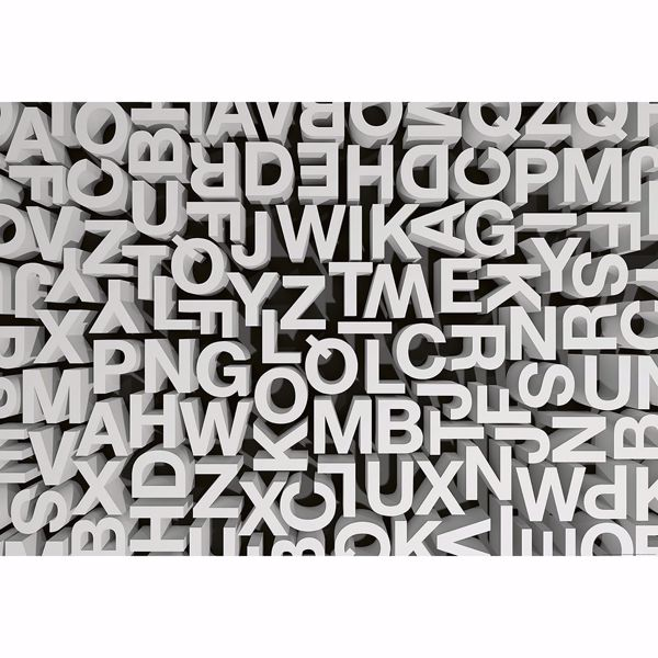 Picture of 3D Typography Letters Non Woven Wall Mural