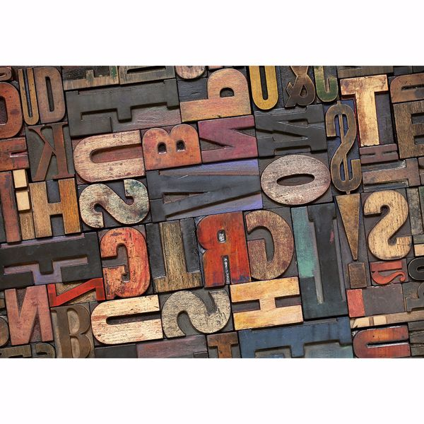 Picture of Vintage Letters Non Woven Wall Mural