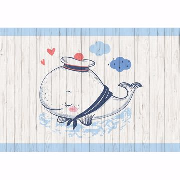 Picture of Sleeping Whale Non Woven Wall Mural