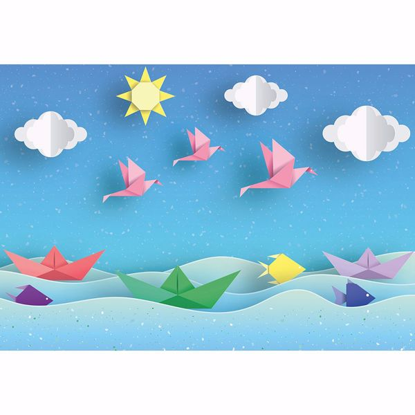 Picture of Origami Landscape Non Woven Wall Mural