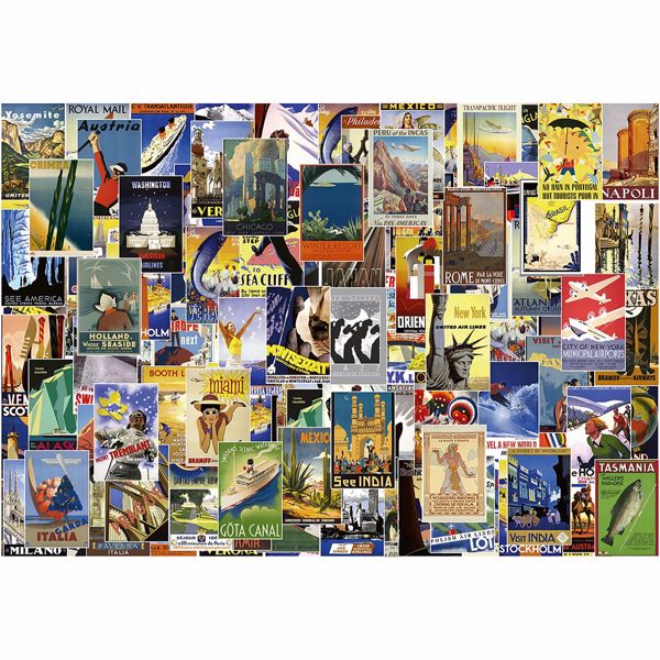 Picture of Vintage Travel Poster Non Woven Wall Mural