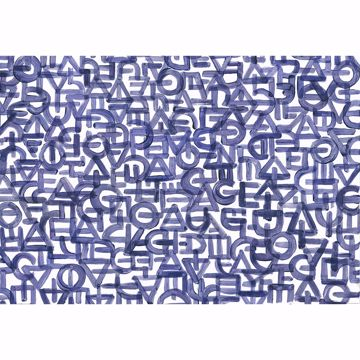 Picture of Blue Urban Typography Non Woven Wall Mural
