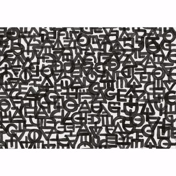 Picture of Black Urban Typography Non Woven Wall Mural