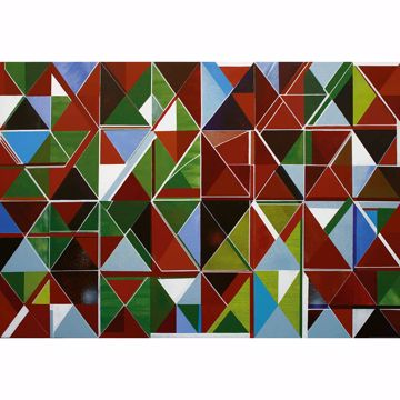 Picture of Multicolored Geometric Mural Non Woven Wall Mural