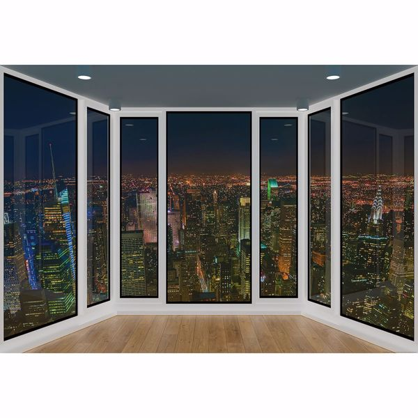 Picture of 3D Panorama Window View Non Woven Wall Mural