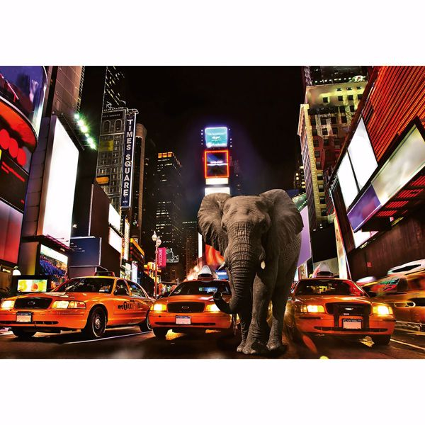 Picture of Elephant In New York Non Woven Wall Mural