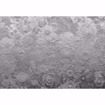 Picture of Silver Flowers Non Woven Wall Mural