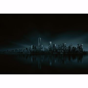Picture of Dark New York Skyline Wall Mural
