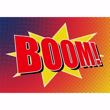 Picture of Boom Comic Wall Mural