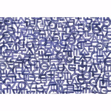 Picture of Blue Urban Typography Wall Mural