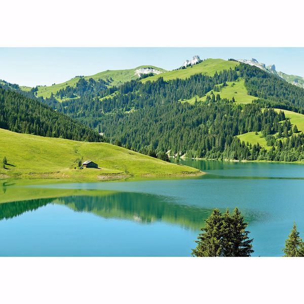 Picture of Swiss Mountain Lake Launensee Gstaad Wall Mural