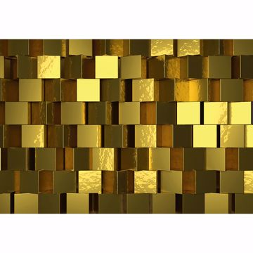 Picture of Golden Cubes Wall Mural