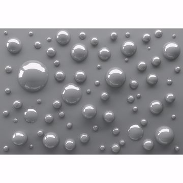 Picture of Grey 3D Bubbles Wall Mural