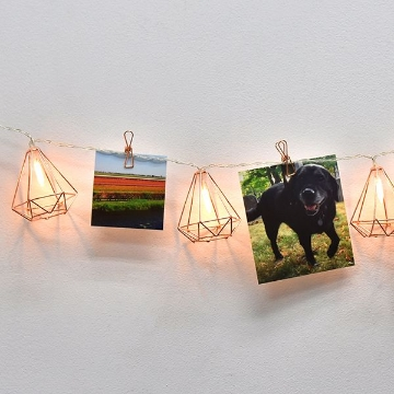 Picture of Rose Gold Diamond String Lights with Clips String Lights