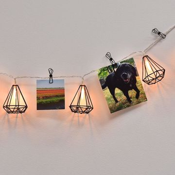 Picture of Matte Black Diamond String Lights with Clips String Lights
