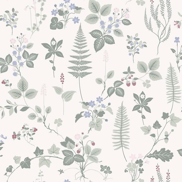 Picture of Stormare Light Green Botanical Wallpaper