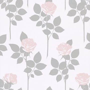 Picture of Lundgren Off-White Rose Wallpaper