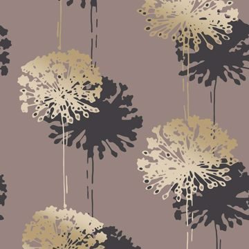 Picture of Hamsun Light Brown Dandelion Wallpaper