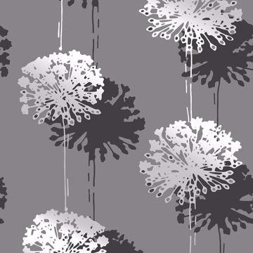 Picture of Hamsun Grey Dandelion Wallpaper