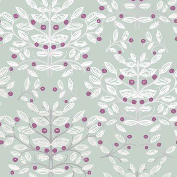 Picture of Kristofer Mint Botanical Wallpaper