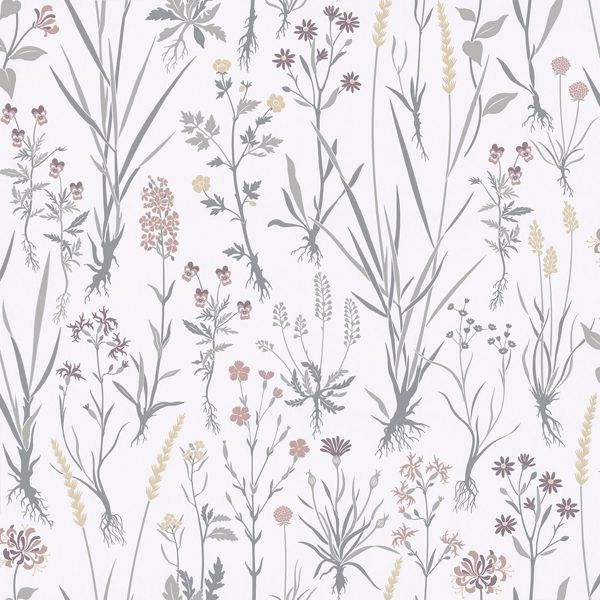 Picture of Harald Multicolor Botanical Wallpaper
