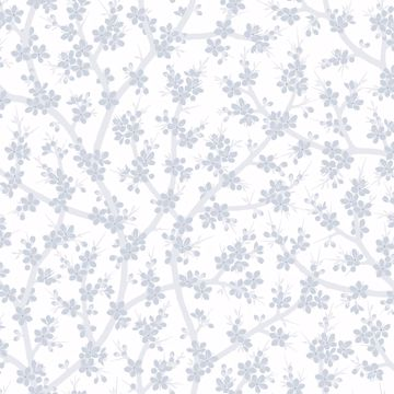 Picture of Henrik Light Blue Floral Wallpaper