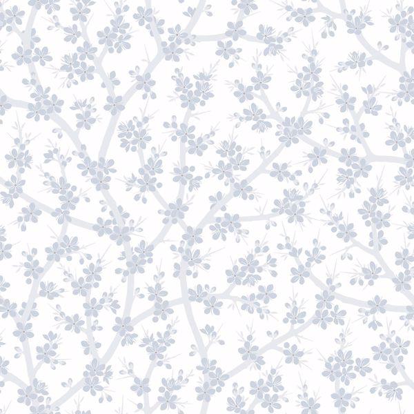 Picture of Henrik Light Blue Floral Wallpaper