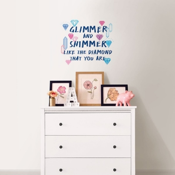 Picture of Glimmer and Shimmer Wall Quote Decals