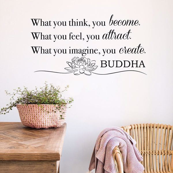 Picture of Become What You Think Wall Quote Decals