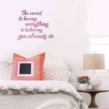 Picture of Secret To Everything Wall Quote Decals