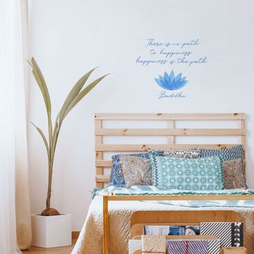 Picture of Happiness Is the Path Wall Quote Decals