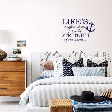 Picture of Strong Anchor Wall Quote Decals