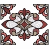 Picture of Red Westwood Stained Window Decals